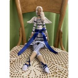 Andělka látková modrá